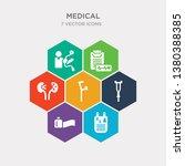 simple set of prescription ... | Shutterstock .eps vector #1380388385