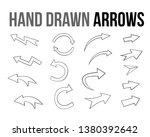 the vector hand drawn arrow... | Shutterstock .eps vector #1380392642