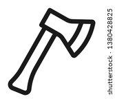 hatchet icon. line style | Shutterstock .eps vector #1380428825