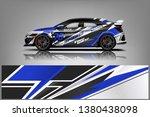 racing car wrap design. sedan... | Shutterstock .eps vector #1380438098