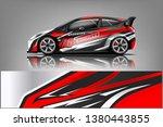 car decal wrap design vector.... | Shutterstock .eps vector #1380443855