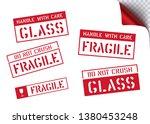 box sign fragile for package...   Shutterstock .eps vector #1380453248
