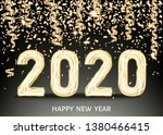 2020 happy new year black... | Shutterstock .eps vector #1380466415