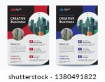 corporate business flyer poster ... | Shutterstock .eps vector #1380491822