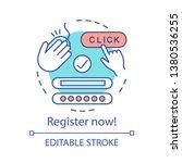 register now concept icon.... | Shutterstock .eps vector #1380536255