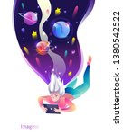 concept in flat style with... | Shutterstock .eps vector #1380542522