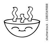 line drawing cartoon of a bowl...   Shutterstock . vector #1380569888