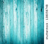 Blue Colored Wood Background