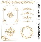 set of vintage elements. frames ... | Shutterstock . vector #1380593405