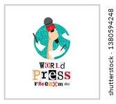 world press freedom day... | Shutterstock .eps vector #1380594248