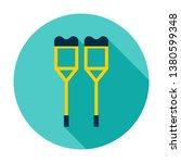 crutches circle icon. vector... | Shutterstock .eps vector #1380599348