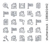 real estate related line icon... | Shutterstock .eps vector #1380601442