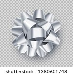 pretty white gift bow with...   Shutterstock .eps vector #1380601748
