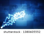2d rendering stock market...   Shutterstock . vector #1380605552