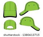 green baseball cap vector...   Shutterstock .eps vector #1380613715