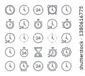 time and clock related line...   Shutterstock .eps vector #1380616775