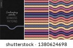 embroidery satin stitch... | Shutterstock .eps vector #1380624698
