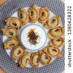 turkish traditional manti food. ... | Shutterstock . vector #1380628322