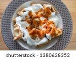 turkish traditional manti food. ... | Shutterstock . vector #1380628352
