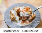 turkish traditional manti food. ... | Shutterstock . vector #1380628355