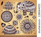 Set Of Ornamental Indian...