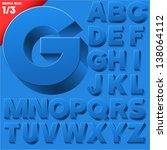 vector alphabet of simple 3d...   Shutterstock .eps vector #138064112