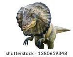 dilophosaurus is a carnivore... | Shutterstock . vector #1380659348