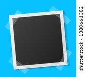black and white polaroid photo... | Shutterstock .eps vector #1380661382