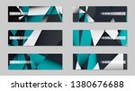 abstract vector banners with... | Shutterstock .eps vector #1380676688