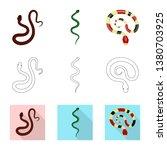 vector illustration of mammal... | Shutterstock .eps vector #1380703925