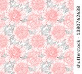 seamless pattern with peony... | Shutterstock .eps vector #1380762638