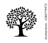 tree  vector silhouette  with... | Shutterstock .eps vector #1380779972