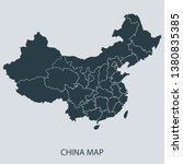 china map on gray background... | Shutterstock .eps vector #1380835385