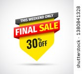 this weekend only final sale... | Shutterstock .eps vector #1380841328