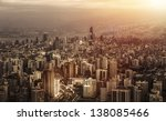 Small photo of Aerial view of beautiful cityscape on sunset, arabic architecture, down town, middle east, Lebanon, travel and vacation concept