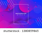 abstract background with blue... | Shutterstock .eps vector #1380859865