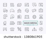 mass media outline icons.... | Shutterstock .eps vector #1380861905