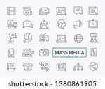 mass media outline icons.... | Shutterstock .eps vector #1380861905