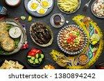 arabic cuisine  middle eastern... | Shutterstock . vector #1380894242