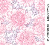 seamless pattern with peony... | Shutterstock .eps vector #1380899408