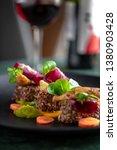 dinner standing on the table.... | Shutterstock . vector #1380903428