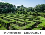 Maze Of Cut Bushes In Barcelon...