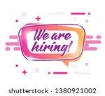 hiring badge banner template....   Shutterstock .eps vector #1380921002