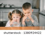 children boy and girl in the... | Shutterstock . vector #1380924422
