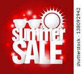 hot summer sale paper folding... | Shutterstock .eps vector #138092942