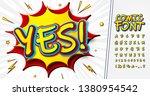comics font. cartoon alphabet... | Shutterstock .eps vector #1380954542
