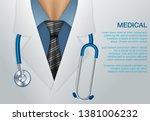 medical vector background.... | Shutterstock .eps vector #1381006232