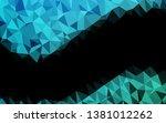 light blue vector low poly... | Shutterstock .eps vector #1381012262