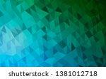 dark blue  green vector blurry... | Shutterstock .eps vector #1381012718