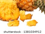 pineapple on a white background | Shutterstock . vector #1381034912